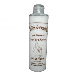 gel douche corps et cheveux lait d'ânesse